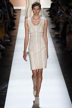 Hervé Léger by Max Azria   Spring 2016 Ready-to-Wear   34 White mesh sleeveless mini dress