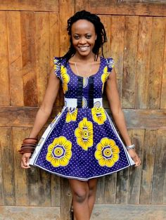african fashion dress wax print