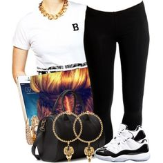 A fashion look from May 2014 featuring Breezy Excursion t-shirts, Ichi leggings and Concord sneakers. Browse and shop related looks.