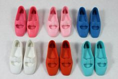 Ideal Beautiful Crissy Doll Shoes Pink White Orange Teal Aqua Available New | eBay