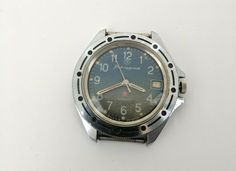 "Vostok watches are manufactured by ""Vostok Watch & Clock"" Factory in Chistopol, Russia. Watch was made by order of the USSR Ministry of Defense. Totally wound watch run approx. Vostok Watch, Vintage Year, Mechanical Hand, Wrist Watches, Vintage Watches, Ministry, Omega Watch, 1980s, Jewels"