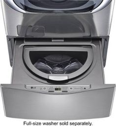 High-Efficiency Pedestal Washer: Compatible with most LG front-load washers; Lg Washer And Dryer, Stainless Steel Drum, Laundry Pedestal, Front Load Washer, Graphite, Cool Things To Buy, Washers, Larger, Appliances
