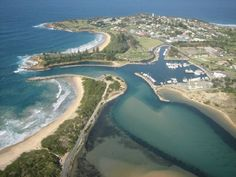 Bermagui, NSW Australia from the air