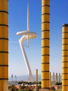 Barcelona, Telefònica by Santiago Calatrava
