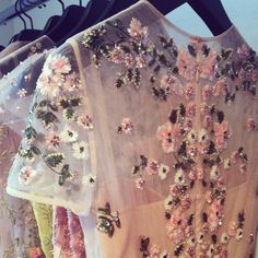 Beaded detail on one of Valentino's resort 2013 gowns.