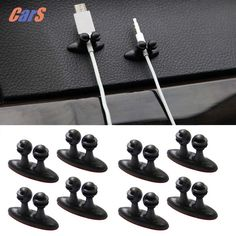 8PCS Car Wire Clips Adhesive Car Line Clasp Headphone Cable Clip  Easy to clip and remove  business present gift #CLICK! #clothing, #shoes, #jewelry, #women, #men, #hats, #watches