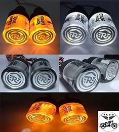SGTB Royal Enfield Crystal Handle Bar End Indicator LED Light Side Weights for Bullet Bike - Classic, Standard, Electra, Thundirbird - 350/500: Amazon.in: Car & Motorbike Royal Enfield Accessories, Enfield Bike, Royal Enfield Bullet, Light Side, Led, Crystals, Weights, Classic, Handle