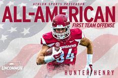 Hunter Henry-First Team Offense All American Picked by the San Diego Chargers in the 2016 NFL draft.