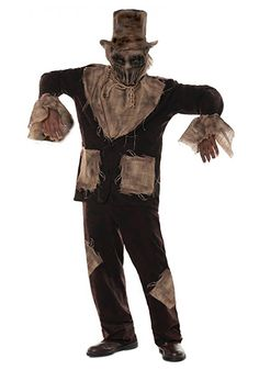 Men's The Last Straw Costume - FOREVER HALLOWEEN Scary Halloween Costumes, Halloween Horror, Creepy Kids, Creepy Children, The Last Straw, Cuffed Pants, Haunted Maze, Superhero