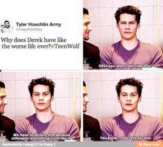 Effing Dylan O'Brien always makes me lol - Teen Wolf