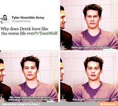 Effing Dylan O'Brien always makes me lol - Teen Wolf