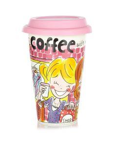 Blond Amsterdam Koffiebeker 'Even Bijkletsen'