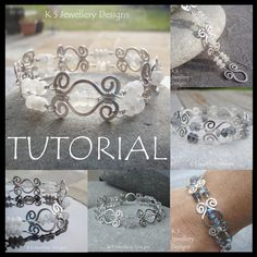 Wire Jewelry Tutorial - HAMMERED SWIRLLINK BRACELET - Step by Step Wire Wrapping Wirework Instructions. $5.00, via Etsy.