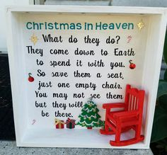 CHRISTMAS+IN+HEAVEN+Shadow+Box+Holiday+Decor+by+EFGCustomCreations