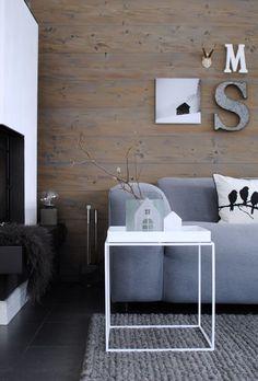 Eine Holzwand Als Wandverkleidung Und Deko Idee