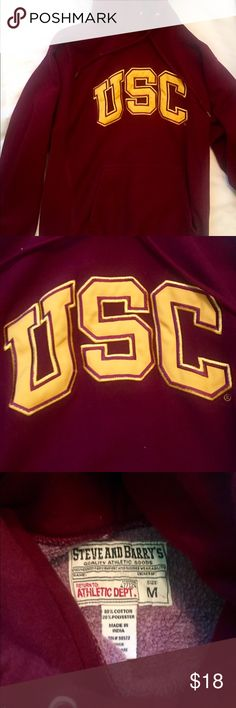 USC hoodie ❤️❤️ Very good condition university of Southern California. So so cute. The red is still very bright! Nothing wrong with it Steve and Barry's Quality Athletic Goods  Tops Sweatshirts & Hoodies