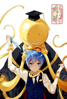 Koro sensei et Nagisa Shiota Manga Anime, All Anime, Anime Love, Anime Guys, Fan Art, Geeks, Koro Sensei, Nagisa Shiota, Nagisa And Karma