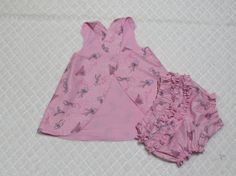 Infant top with bloomers size Medium 612 Months by SharonsHomeSewn, $12.00