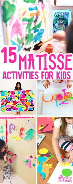 15 Vibrant Matisse Art Projects for Kids That Really Wow Matisse Art Projects for Kids - art and hands-on activities inspired by the bold colors and organic shapes used by Henri Matisse. An awesome Art Study for Kids of all ages Henri Matisse, Matisse Kunst, Kunst Picasso, Matisse Art, Picasso Art, Matisse Paintings, Matisse Drawing, Picasso Tattoo, Chagall Paintings