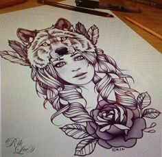wolf tattoo designs for women - Pesquisa Google