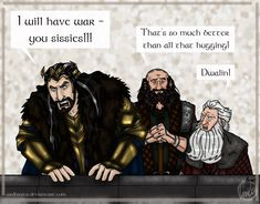 The Hobbit Doodle: Just Teasing by wolfanita on deviantart