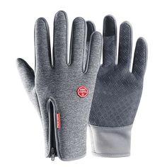 1e020e2546c79 Buy Waterproof Gloves Outdoor Riding Men's Winter Touch Screen Windproof  Female Zipper Sports Warm Plus Velvet Mountaineering Skiing