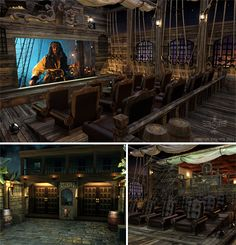 Incredibly cool Pirate-themed Home Theater