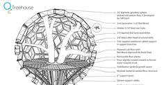Honey sphere tree house // x dia = 6m approx                                                                       ===  More         http:...