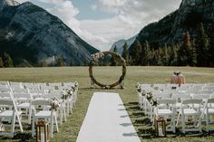 Beautiful luxury wedding ceremony in the mountains with a circle archway complete with greenery and rose gold decor. Wedding People, Wedding Couples, Wedding Photos, Lodge Wedding, Wedding Ceremony, Wedding Beauty, Luxury Wedding, Mori Lee Bridesmaid, Rose Gold Decor