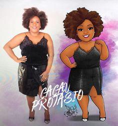 Big, Bold, and Beautiful: Brazilian Artist Turns Plus-Size Ladies Into Amazing Cartoons! Black Girl Art, Black Women Art, Woman Illustration, Character Illustration, Meninas Comic Art, Comic Art Girls, Plus Size Art, Funny Paintings, Gibson Girl