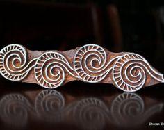 Sello madera indio estampado textil bloques de por charancreations