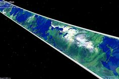 View from space of the inner surface of a Ringworld.  #Ringworld  #LarryNiven