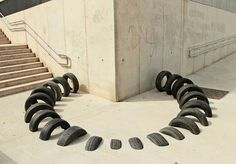 Pneumàtic: A Series of Public Art Installations Created with Recycled Tires | Junkculture
