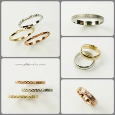 We have created an exclusive line of rings with designs cast from vintage bands and made with recycled rose, yellow or white gold. $405-$800 depending on style and ring size. Call to purchase. #giltjewelry #weddingring #wedding #recycled #ecowedding #vintage #pdxstyle #heirloom
