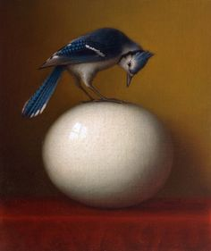 Luv blue jays!  Painting by Wade Schuman