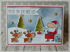 "My Favorite Things Stamps, "" Jingle all the way "" , christmas cards, slider cards"