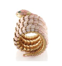 Bulgari Coral Serpenti Bracelet with Jaegar Le Couture Watch Face