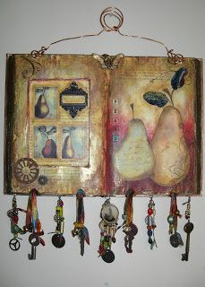 altered book wall art