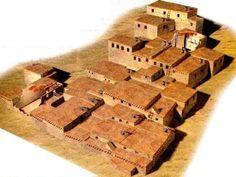 Catal Huyuk, Anatolia, Turkey - prehistoric architecture. Matriarchal society
