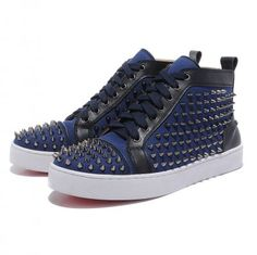 Christian Louboutin Cheap Shoes Mans Sneakers Sticker High Top Beige Outlet Online Sale