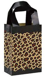 Small Frosted Plastic Leopard Print Shopper