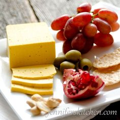 Recipe for Vegan Sliceable Cheese. sounds easier and less time consuming than most vegan cheeses