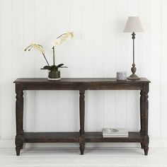 Made from Mangowood and finished in a delightful espresso patina, our Barron console is handmade in India. Small Tables, Finding A House, Timeless Classic, Table Furniture, Home And Living, Entryway Tables, Wood, Sofa Tables, Console Tables