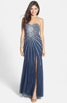 Sean Collection Embellished Strapless Mesh Gown available at #Nordstrom - Love this!