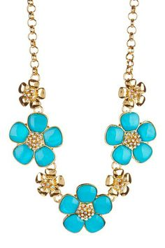 Flower Frenzy Necklace by Olivia Welles on @HauteLook