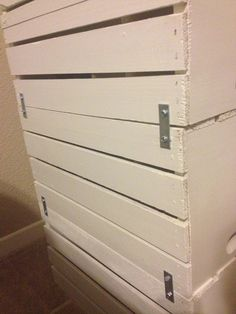 I wanted a cheap nightstand that would have areas to organize my items in. I decided to make my own out of wooden crates.       Step 1: Deci...