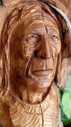 Detail, a talent that is a work of art, carved from wood, amazingly surreal.