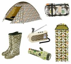 Orla Kiely x Millets camping collection 2007