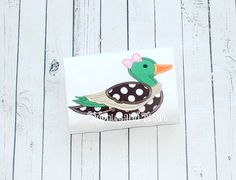 Cute little Duck/ Mallard Applique by TadpolesandTutusBout on Etsy