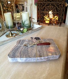 Granite candle runner candlescapes pinterest runners for Carrara marble slab remnants